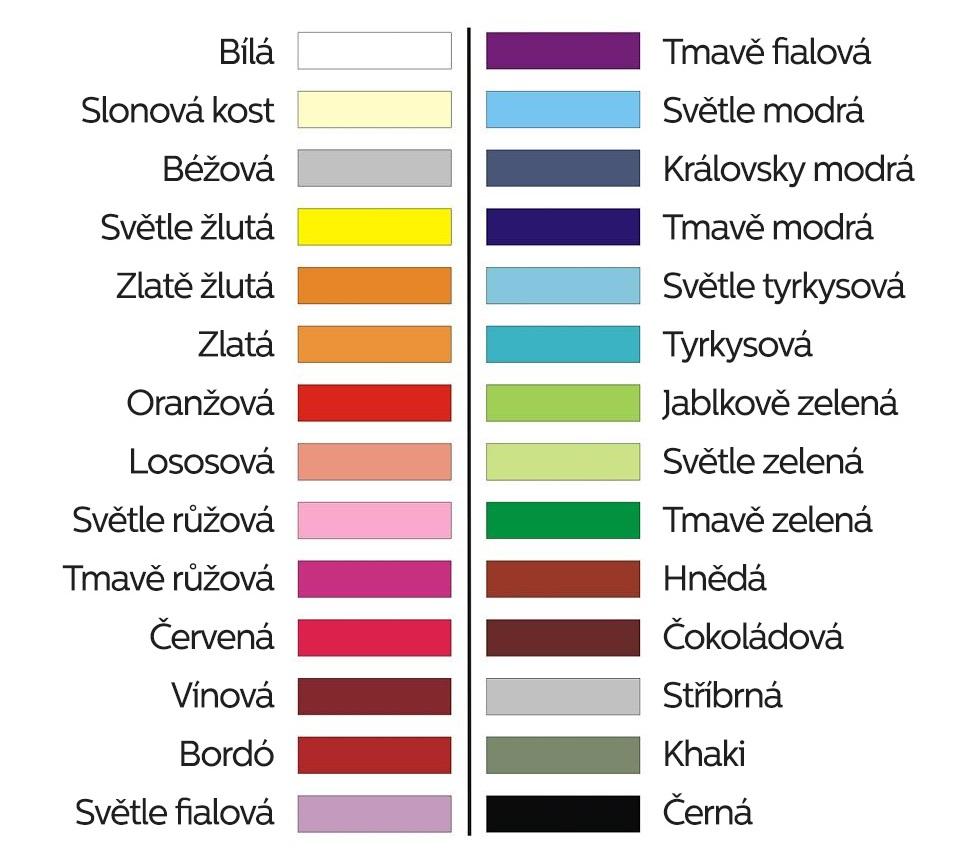 barvy potisku